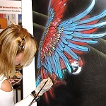 Messe-lifeart Lifepainting für Messestand